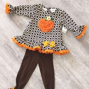 Thanksgiving Ruffle boutique outfit 2T